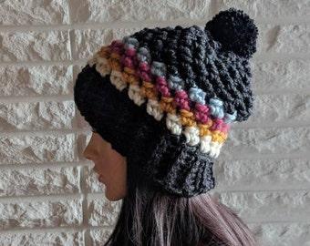 b1cf23de730 Women s chunky pom pom hat