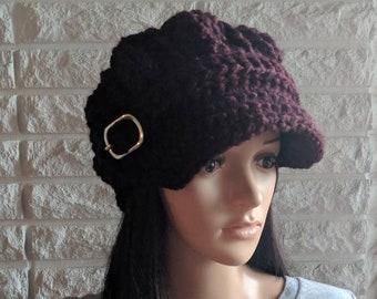 f6b5c1f79db Women s claret newsboy hat