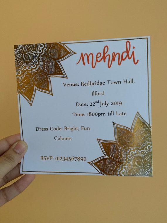 Mehndi Invitation/ Card