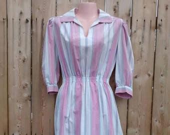 Timeless Cotton Summer Striped Dress