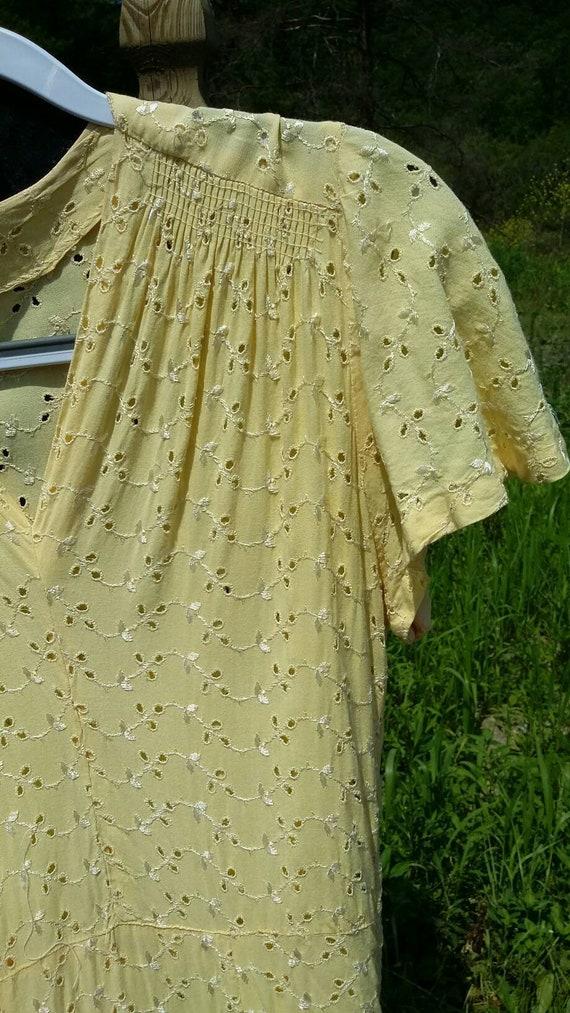 Buttercup  Yellow Eyelet pin Up Dress