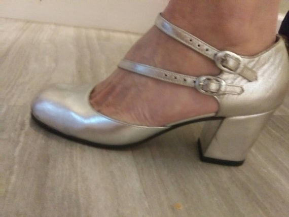 Sexy Silver Mary Janes