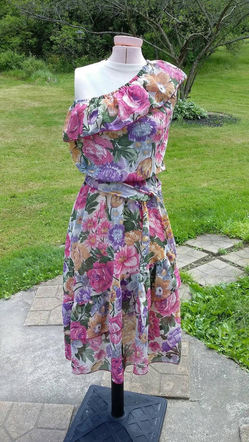 Foxy Lady Asymmetrical Floral Sundress