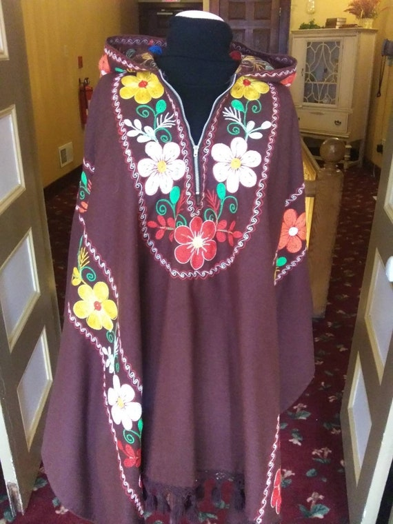 Amazing Embroidered Felt Poncho