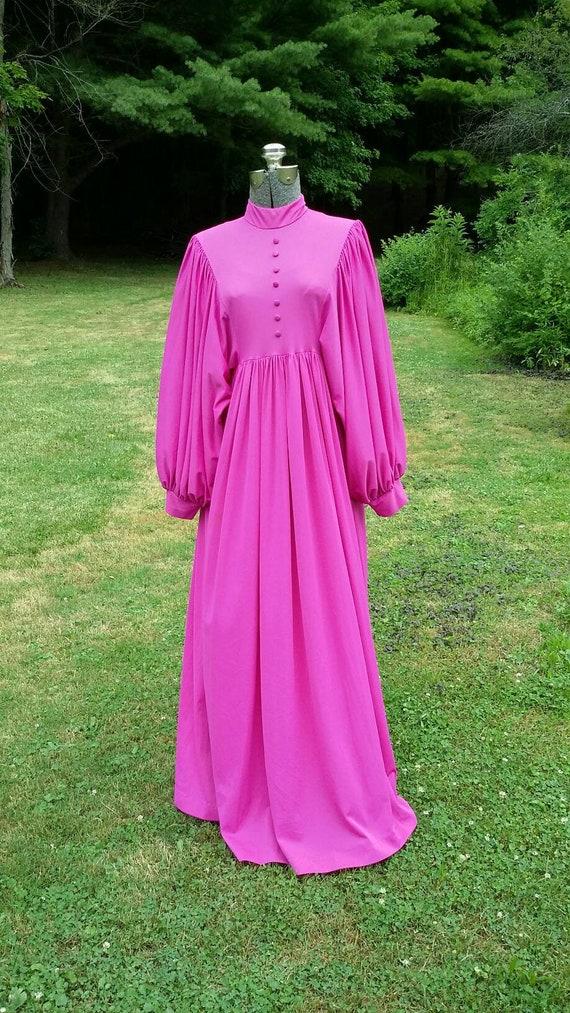 Fabulous Fusha Maxi Dress with Balloon Sleeves