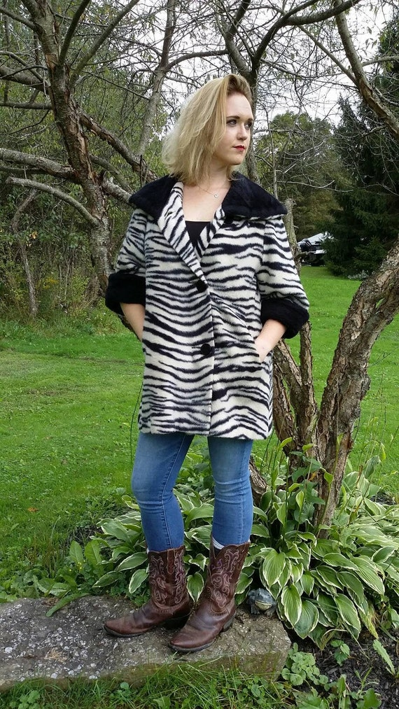 Zebra Striped Bombshell Faux