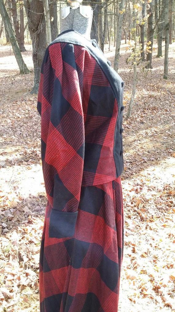 Red Black Plaid Suit - image 7