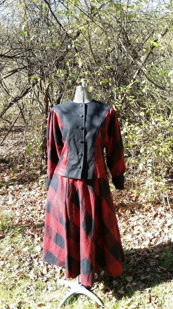 Red Black Plaid Suit - image 5