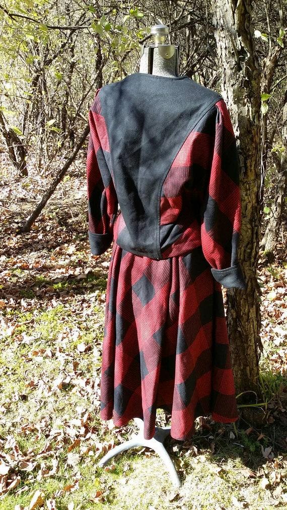 Red Black Plaid Suit - image 6
