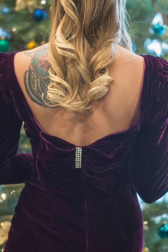 Fabulous Purple Velvet Gown