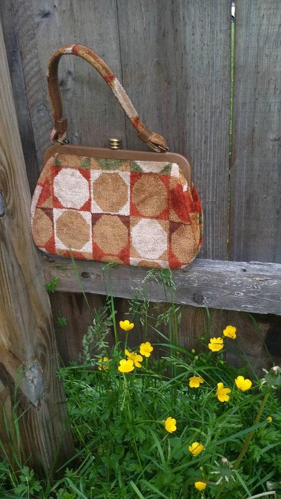 Mod Geometric Print Handbag - image 2