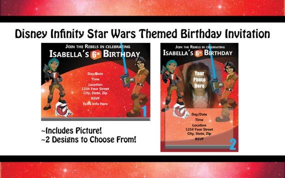 Star Wars Disney Infinity Themed Birthday Invitation
