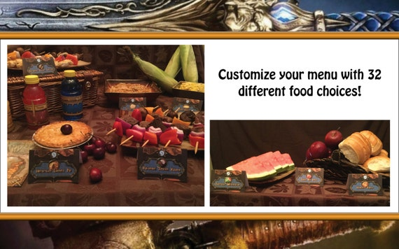 World of Warcraft Themed Food Tents