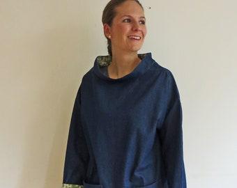 39bde59b5a Denim SMOCK Jacket with Liberty Print Linings.
