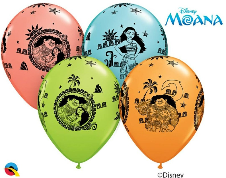 11 Disney Moana and Maui balloons decorations 4 count