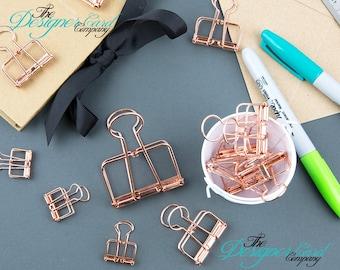 Rose Gold Wire Bulldog Clip | Paper Clip | Planner Clip | Wire Clip | Skeleton Clip
