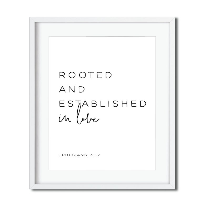 Ephesians 3:17 Rooted and Established in Love Bible Verse image 0
