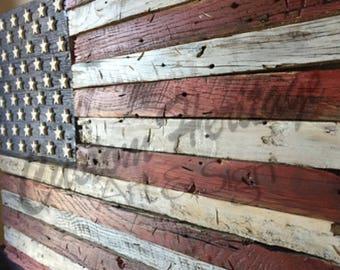 American FlagWood FlagWooden FlagRustic FlagReclaimed Wood Flagwooden Flagrustic Flagwood Flagflag