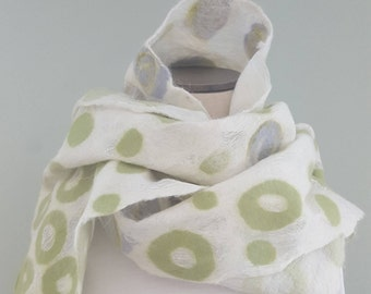 Handmade Nuno Felt Scarf - Makes a great Gift - Unique and one of a kind