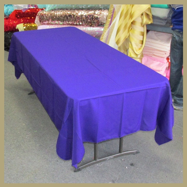 Tablecloth Poly Poplin  Polyester  Gabardine Rectangle 58 X 108 inches Purple 230