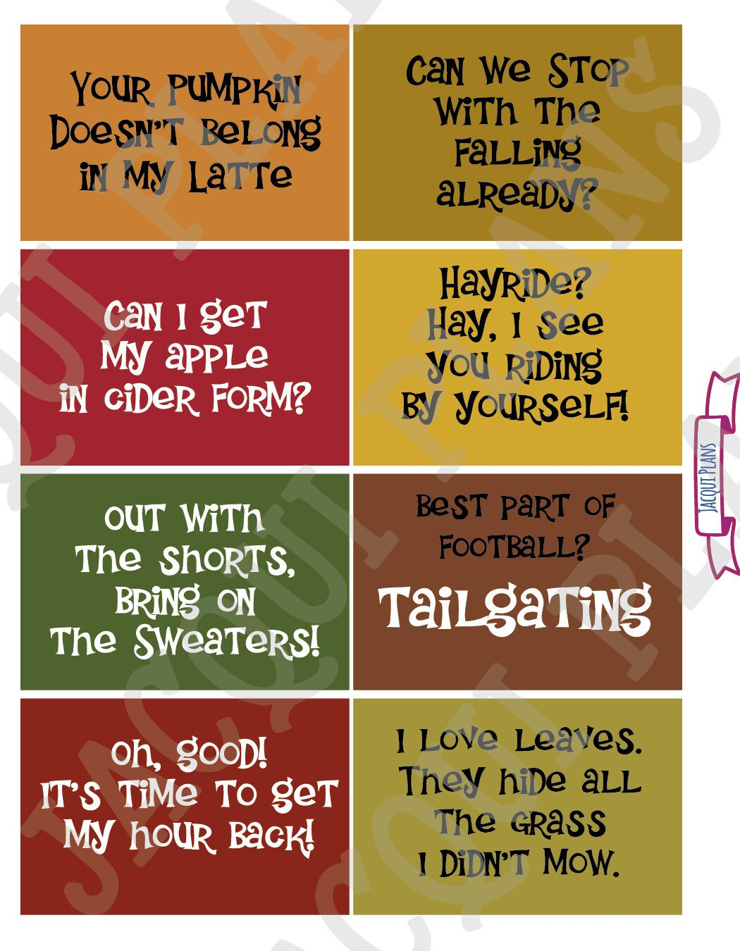 Autumn Snarky Sayings Planner Stickers For Your Ec Etsy