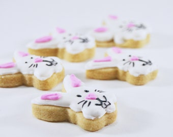 Mini Easter Sugar Cookies - Easter Bunny - colorful - fun - Easter gift - Easter Treat - Easter Bunny Bait - Tiny and cute gift
