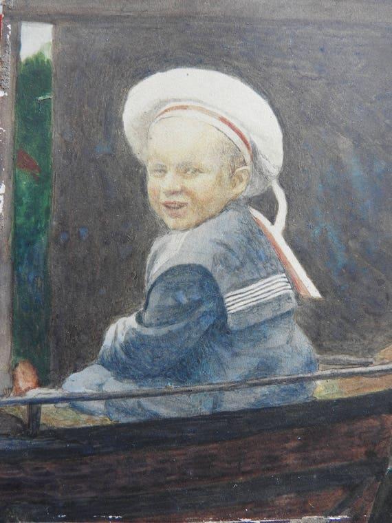 ritratto dipinto a mano dalla tua foto Custom Acquerello Ritratto