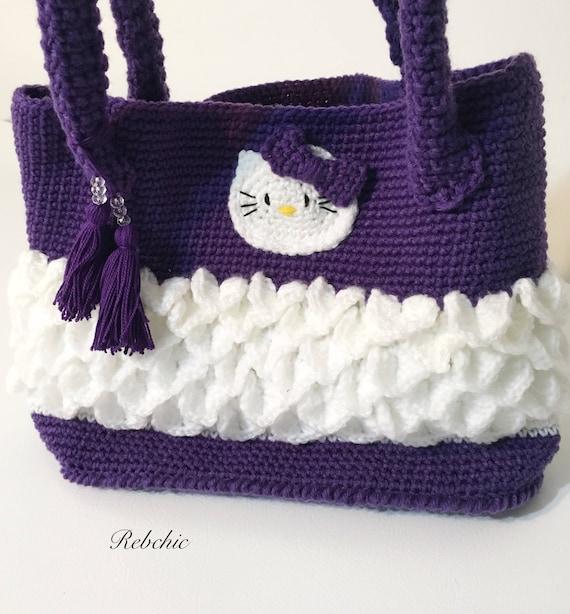 Häkeln Stil Hello Kitty Handtasche Tasche / | Etsy