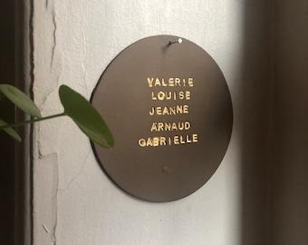 Plaquette LOVe, Decorative plaque made of porcelain chamotte