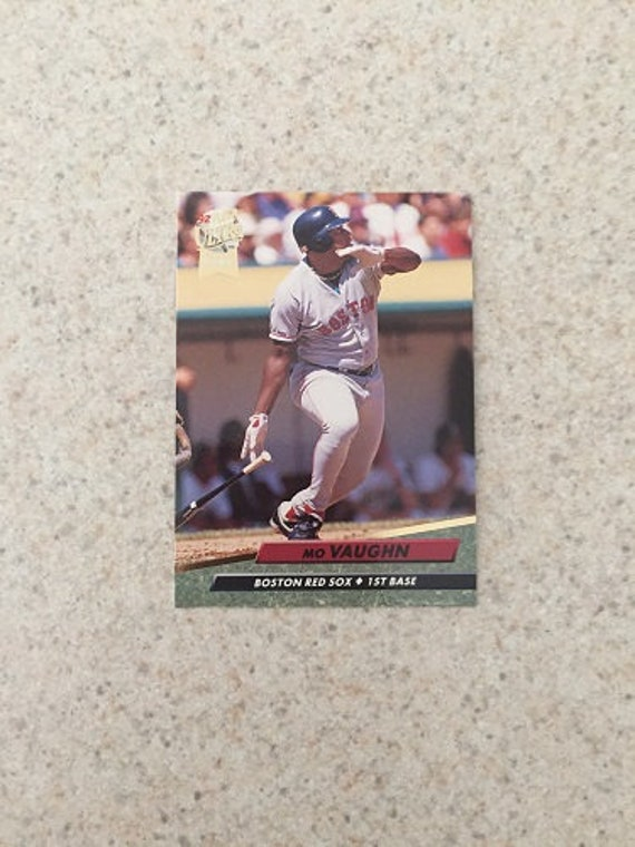 Mo Vaughn Mlb Rookie Trading Card Mint Condition Rc Very Good Boston Red Sox Baseball Player By 1992 Fleer Ultra In Case