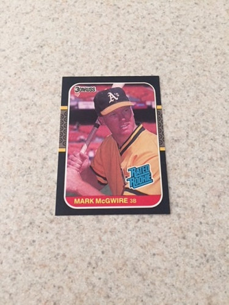 Mark Mcgwire Mlb Rookie Trading Card Mint Condition Rc Very Good Oakland As Baseball Player By 1987 Donruss In Case