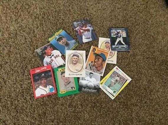 Colector de béisbol trading card expositores X 10