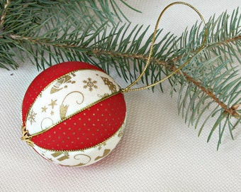 Christmas ball ornament traditional christmas decorations Xmas red white gold Christmas gift nursery holiday tree decor christmas baubles