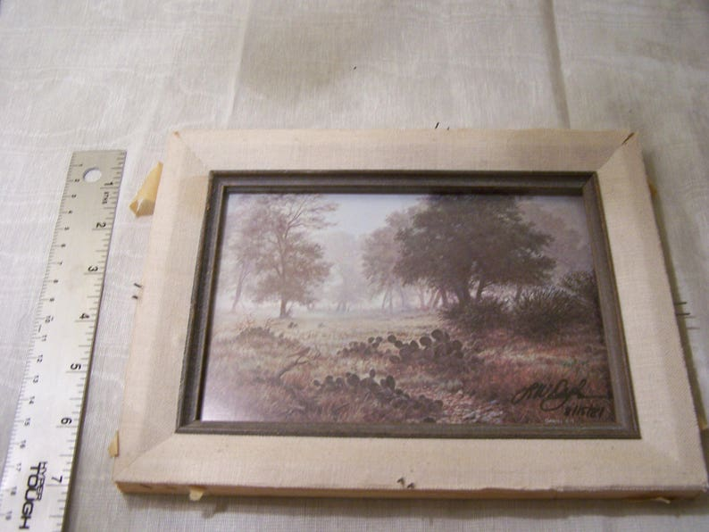 Larry W.Dyke Texas print Signed by the artist Cactus and Countryside Daniel 4:15