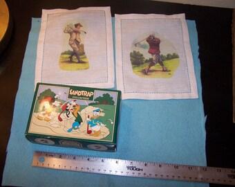 Disney Pro Sandtrap Collection Golf Balls NIB plus Vintage Linen