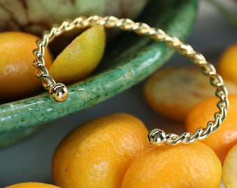 promo!!! 24K gold twisted bow bracelet, delicate jewellery, gold rush bracelet, gift selection for her,
