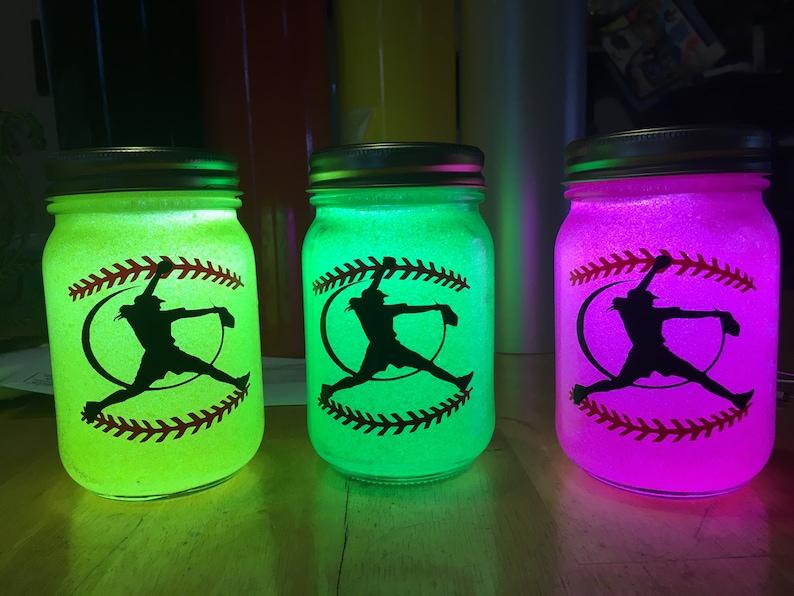 Softball Gift Nightlight Softball Nightlight Lantern image 0