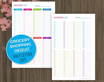 shopping list printable grocery list printable grocery etsy