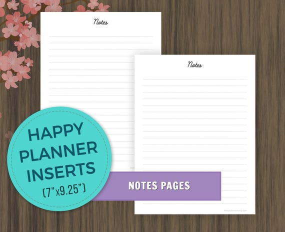 photo regarding Discbound Planner Pages Printable titled Joyful Planner Inserts, Notes Web pages Printable, Satisfied Planner Refill Inserts, MAMBI, Discbound Planner Inserts, Build 365 Printable Inserts