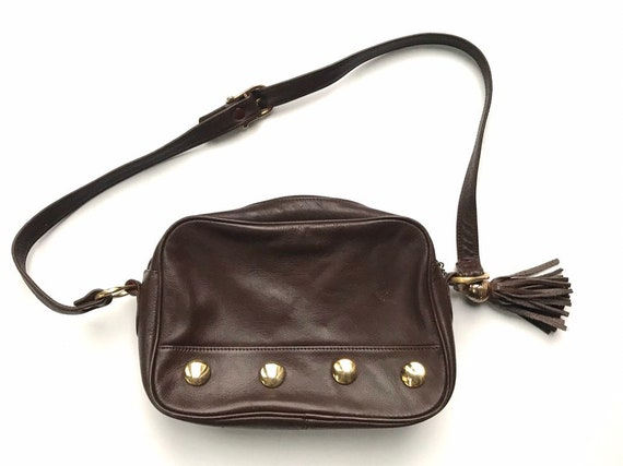 Vintage Brown Leather Collectif Purse with Tassel