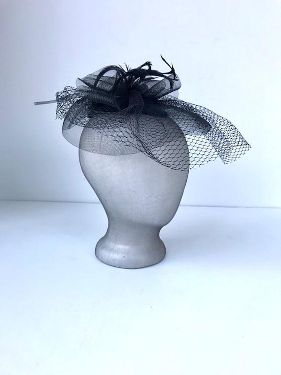 Vintage Black Fascinator Hat
