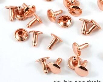 Rivets, Double Cap Rivets, Doubled Capped Rivets, Copper Rivets, Emmaline Bags Rivets, small rivets