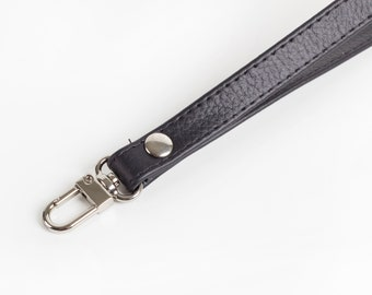 Leather Clutch Strap, Wristlet strap, Black Wristlet, Leather Wrist Strap, Wristlet Strap for Clutch, Wrist Strap Replacement, Strap