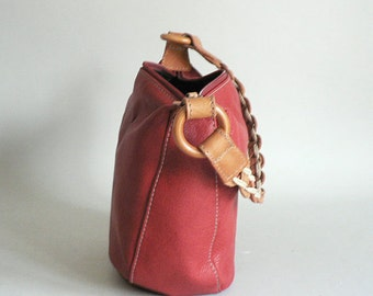 714682d1218c Small Red Leather Slouch Hobo Purse
