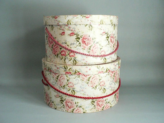 1930s Rose Hat Boxes