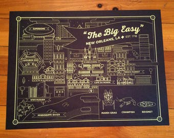 New Orleans Screen Printed Poster