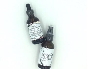 Pin Up Cosmetics Lavender Skin Care Duo/Softens fine lines/Vegan Skin Care