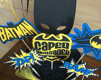 Batman Inspired Photo Booth Props - set of 6