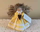 ANGEL, AIR FRESHENER Handmade with love, Guardian Angel, Primitive Heart, Country, Christmas, Religious, Birthday, Decorative, House Warming