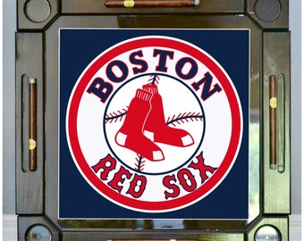Charmant Wooden/wood Dominoes/domino Table/mesa Custom Made Boston Red Sox Made In  USA